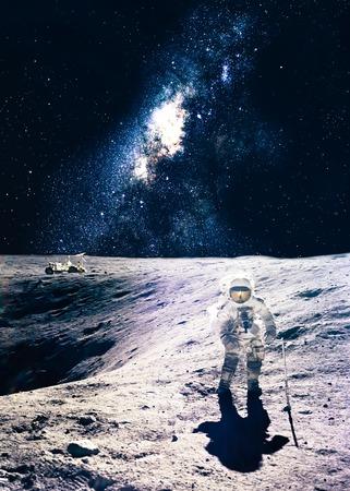 sun and moon: Astronaut on the moon