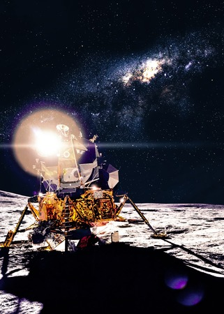 rover: Moon station Stock Photo