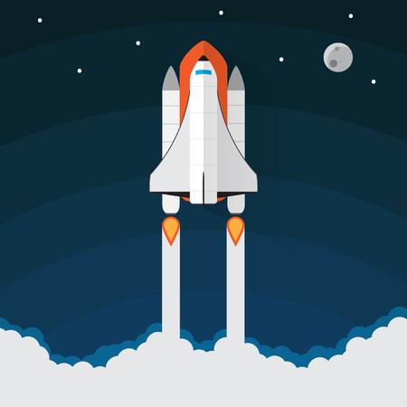 Space Shuttle Launch. Illustrazione vettoriale Archivio Fotografico - 38941010