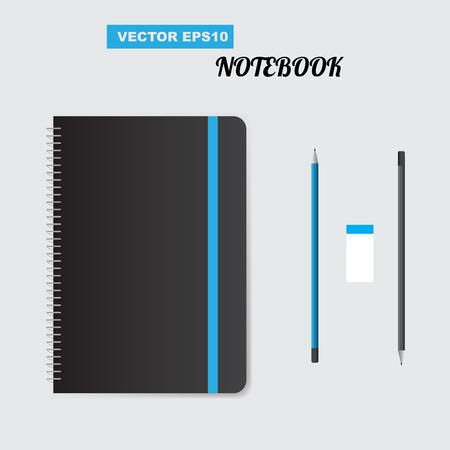 spiral notebook: Realistic spiral notepad notebook. Vector illustration Illustration