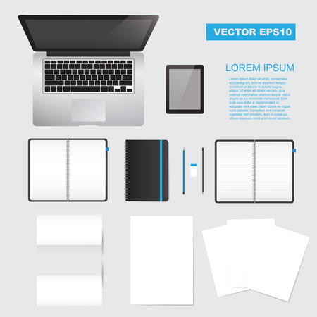 mock up: Vector corporate identity mock up