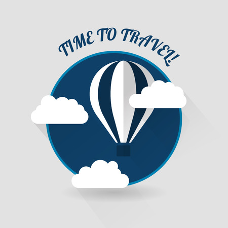 balon: Time to travel modern flat style vector icon