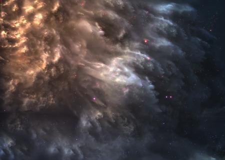 raumschiff: Sternfeld im Weltraum viele Lichtjahre weit von der Erde.