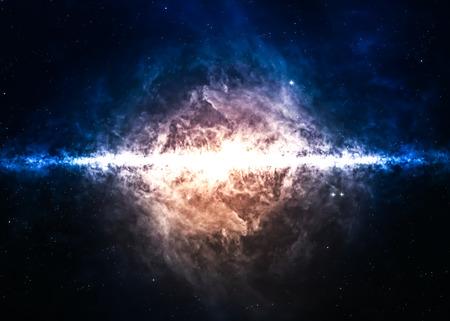 Campo de estrellas en el espacio profundo a muchos años luz lejos de la Tierra. Foto de archivo - 44450005
