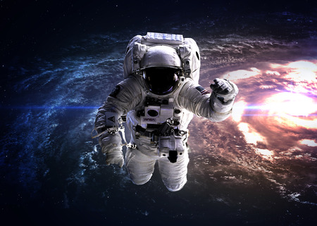 andromeda: Astronaut in outer space.