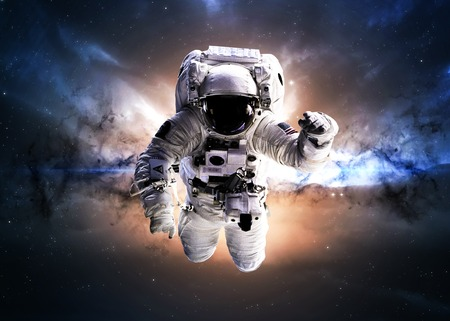 galaxy: Astronaut in outer space.