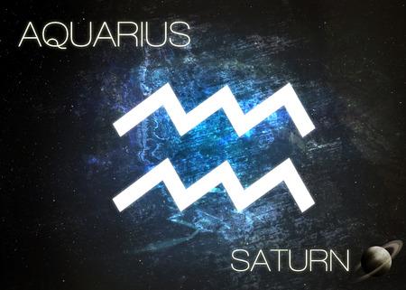aries: Signo del zodiaco - acuario Foto de archivo