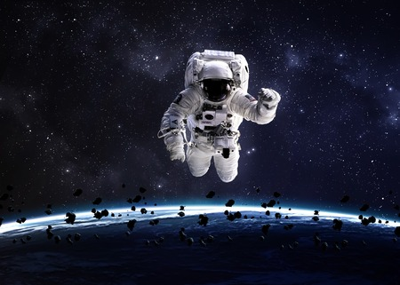 astronaut in space: Astronaut in outer space.  Stock Photo