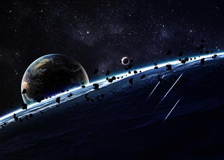 raum: Planets über den Nebel im Raum.