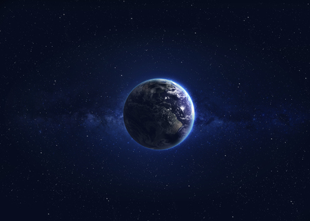 glowing earth: High quality Earth image.
