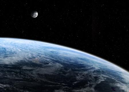 Vysoká kvalita obrazu Země.