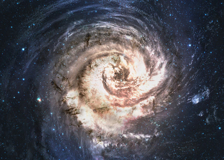 Incredibly beautiful spiral galaxy somewhere in deep space.
