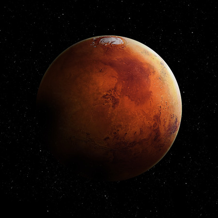 surface: High quality Mars image.  Stock Photo