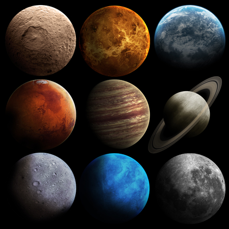 Hight quality solar system planets.