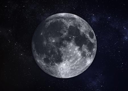 Sistema Solar - Planeta Luna. Foto de archivo - 44449804