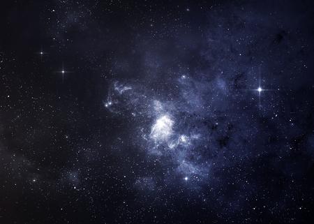 luz: Campo de estrellas en el espacio profundo a muchos años luz lejos de la Tierra.