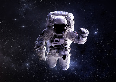 kepler: Astronaut in outer space.  Stock Photo