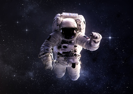 sonne mond und sterne: Astronaut im Weltraum. Lizenzfreie Bilder