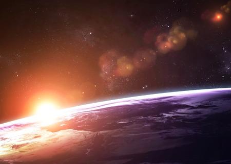 raumschiff: Hochwertige Erde Bild.
