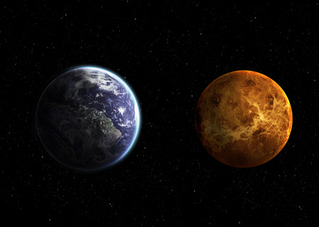 earth from space: Hight quality solar system planets. Stock Photo