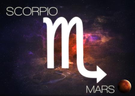 Signo del zodiaco - Escorpio Foto de archivo - 44449767