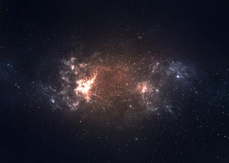 Star gebied in de diepe ruimte vele lichtjaren ver van de Aarde.