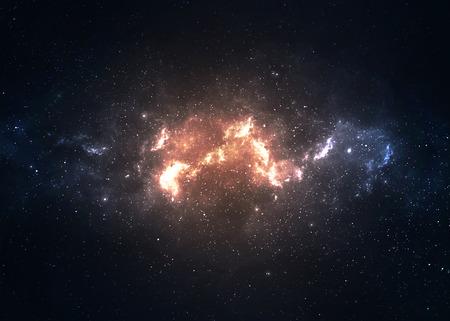 많은 광년 멀리 지구에서 깊은 공간에서 스타 필드.