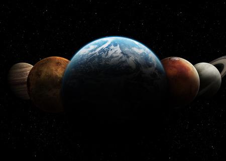 태양계. 스톡 콘텐츠
