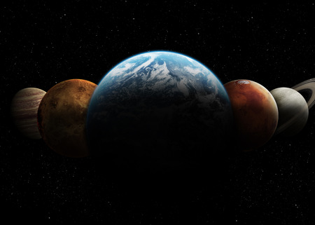 sistemas: Sistema solar. Foto de archivo