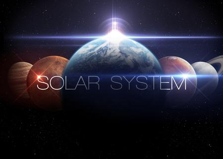 Sistema solar. Foto de archivo