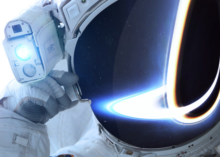outer: Astronaut in outer space.  Stock Photo