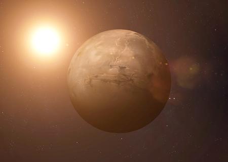 Kleurrijk beeld vertegenwoordigt Mercury.
