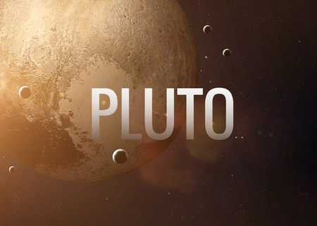 pluto: Lettering on the background of the Pluto.