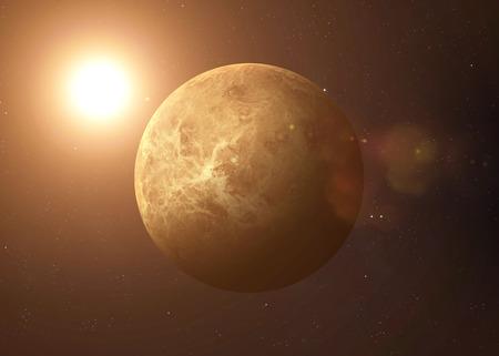Kleurrijk beeld vertegenwoordigt Venus.