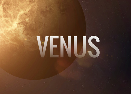 venus: Lettering on the background of the Venus.