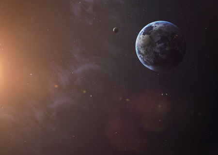 kepler: The Earth from space showing all they beauty. Extremely detailed image, including elements furnished by NASA. Other orientations and planets available.