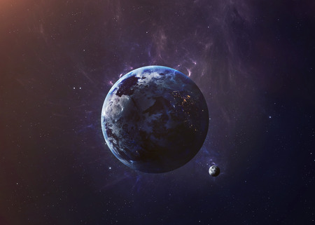 nasa: The Earth from space showing all they beauty. Extremely detailed image, including elements furnished by NASA. Other orientations and planets available.