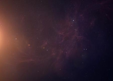 The Sun schot vanuit de ruimte te zien alles wat ze schoonheid. Zeer gedetailleerd beeld, met inbegrip van elementen geleverd door NASA. Andere oriëntaties en planeten beschikbaar. Stockfoto