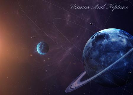 nasa: The Uranus with moons shot from space showing all they beauty. Extremely detailed image, including elements furnished by NASA. Other orientations and planets available.