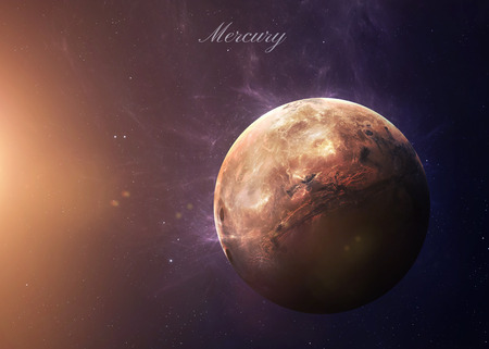 planets: The Mercury shot from space showing all they beauty. Extremely detailed image, including elements furnished by NASA. Other orientations and planets available.