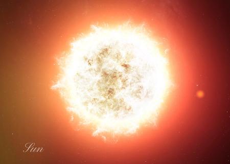 El Sol lanzó del espacio que muestra todo lo que la belleza. Extremadamente detallado de imagen, incluidos los elementos aportados por la NASA. Otras orientaciones y planetas disponibles. Foto de archivo