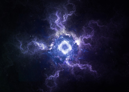 orion: Black hole in space.   Stock Photo