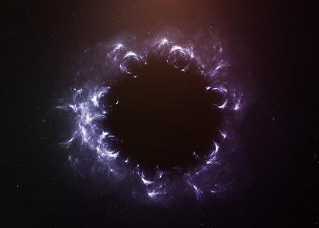 luz roja: Agujero negro en el espacio.
