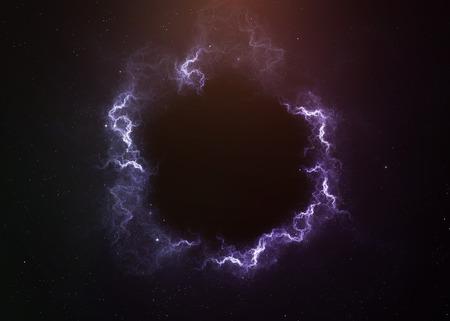 Zwart gat in de ruimte.