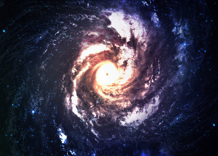 kepler: Incredibly beautiful spiral galaxy in deep space.  Stock Photo