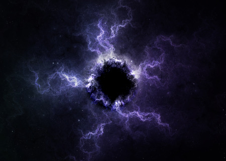 black hole: Black hole in space.