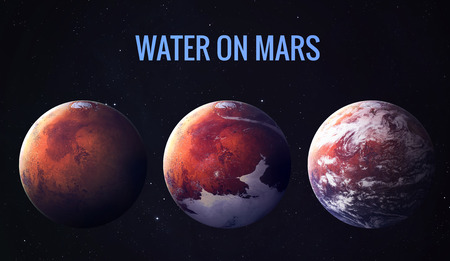 Discovered liquid water on the planet mars, great science discovery.  Zdjęcie Seryjne