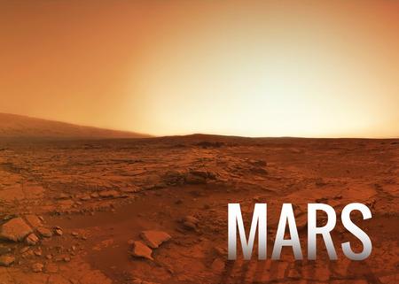 surface: Mars surface.  Stock Photo