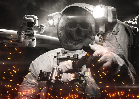 Dead Astronaut in outer space.