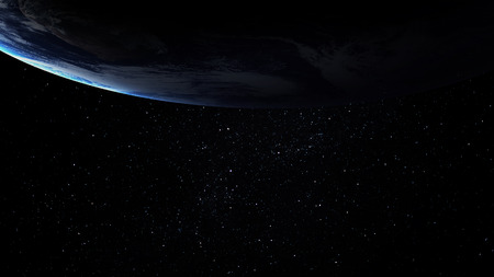 earth from space: High resolution image of Earth in space.